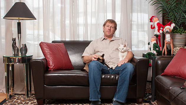 """Men & Cats"": Fotograf begeistert mit Bilderserie (Bild: David Williams)"