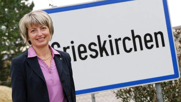 Maria Pachner (51) ist Bürgermeisterin der Bezirkshauptstadt Grieskirchen. (Bild: Markus Wenzel)