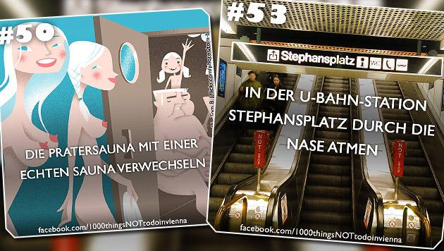 Was Sie in Wien nicht machen sollten! (Bild: facebook.com/1000thingsNOTtodoinvienna)