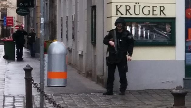 """Bezirksrat stritt mit Sohn - Großeinsatz in Wien (Bild: """"Krone""""-Leserreporter)"""