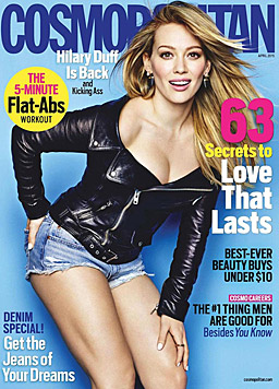 "Hilary Duff am Cover der ""Cosmopolitan"" (Bild: Cosmopolitan)"