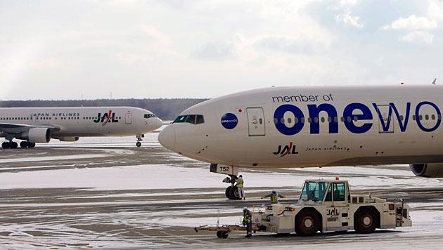 Flugzeuge am Chitose Airport nahe Sapporo (Bild: EPA/Dai Kurokawa/picturedesk.com)