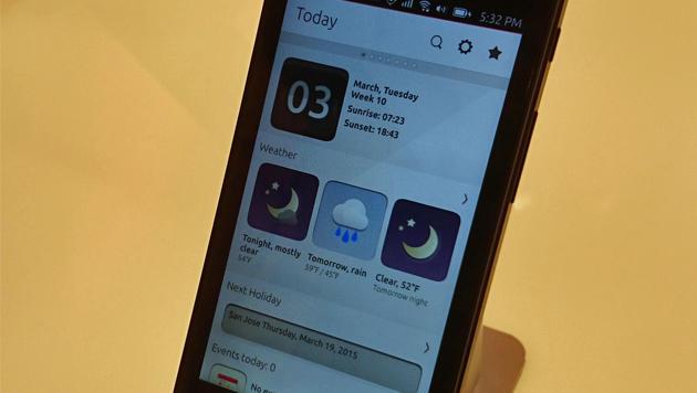 Am anpassbaren Start-Scope finden Nutzer Infos zu Terminen, Wetter und anderen Dingen. (Bild: Dominik Erlinger)