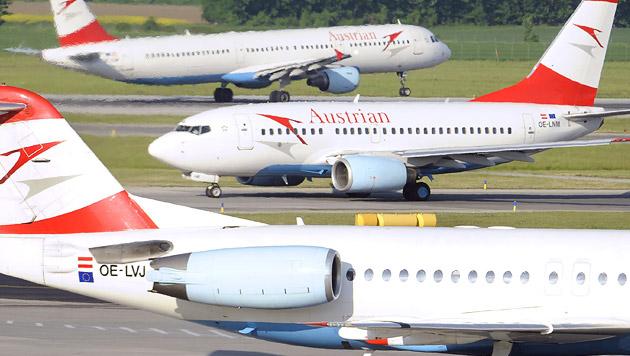 Piloten krank: Zahlreiche AUA-Flüge gestrichen (Bild: APA/ROBERT JÄGER)