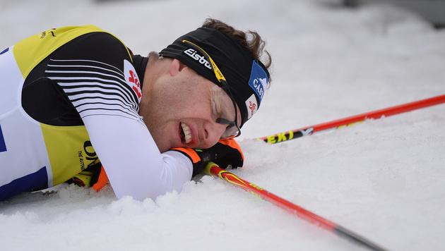 Weltmeister Gruber muss Lahti sausen lassen (Bild: APA/BARBARA GINDL)