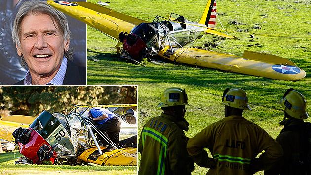 Harrison Ford stürzte 2015 mit seinem Flugzeug auf einen Golfplatz. (Bild: Jordan Strauss/Invision/AP, AP)