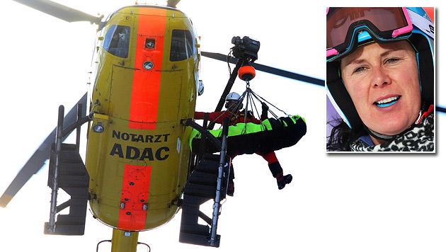 Daniela Merighetti bricht sich bei Sturz Wadenbein (Bild: AP, GEPA)