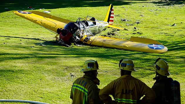 Harrison Ford mit Kleinflugzeug abgestürzt (Bild: AP)