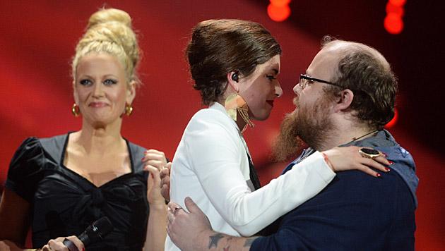 Andreas Kümmert bekam von den Zuschauern die meisten Stimmen. (Bild: APA/dpa/Peter Steffen)