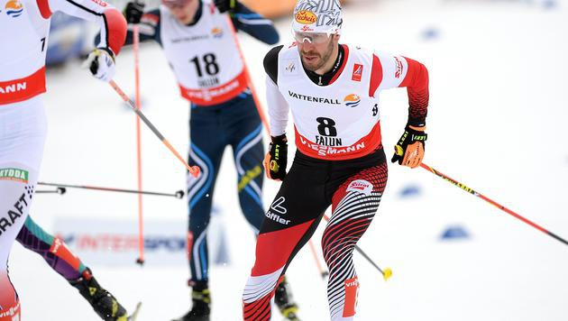 Bieler/Klapfer im Lahti-Teamsprint Sechste (Bild: APA/BARBARA GINDL)