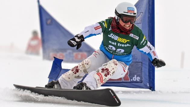 Claudia Riegler gewinnt Parallel-Slalom in Moskau (Bild: GEPA)