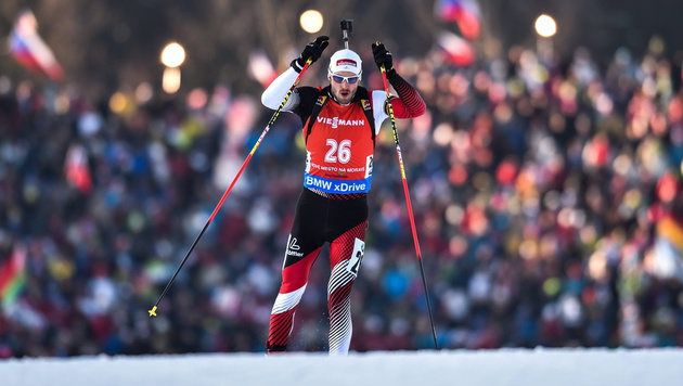 ÖSV-Debakel beim Biathlon-WM-Sprint (Bild: APA/EPA/FILIP SINGER)