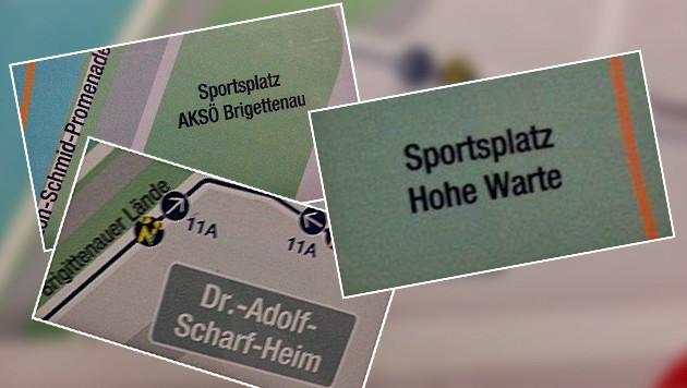 """""""AKSÖ Brigettenau"""", """"Sportsplatz"""" und """"Dr.-Adolf-Scharf-Heim"""" erhitzen die Gemüter. (Bild: """"Krone"""")"""