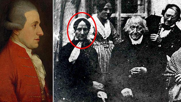 """Mozarts Witwe Constanze ist auf diesem Schwarz-Weiß-Foto aus dem Jahr 1840 zu sehen. (Bild: APA/COURTESY OF CHRISTIE""""S, Altöttingen City Archiv EPA ISM)"""