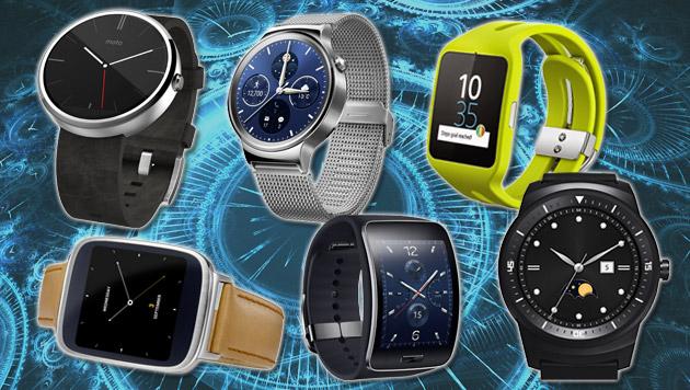 Smartwatch-Verkäufe um ein Drittel zurückgegangen (Bild: thinkstockphotos.de, Asus, Huawei, LG, Motorola, Samsung, Sony)