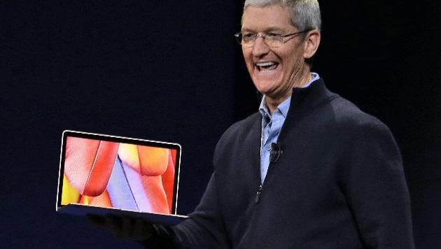 Apple kündigt neues Macbook mit 12-Zoll-Display an (Bild: AP)