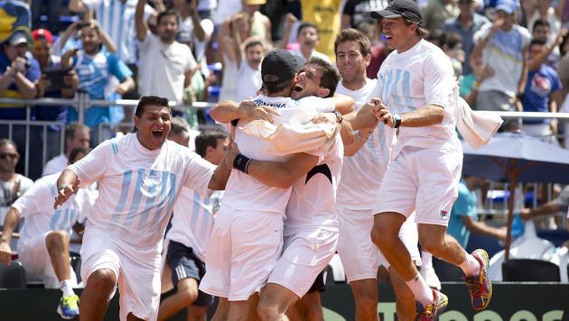 Argentinien im Viertelfinale! 3:2 gegen Brasilien (Bild: AP)