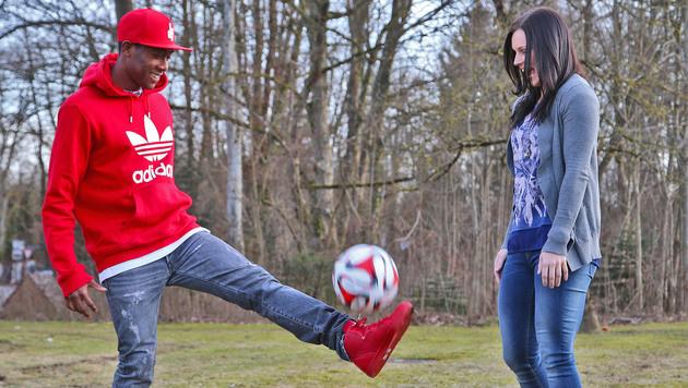 """Fenninger trifft Alaba: """"Wir lieben die Kugel"""" (Bild: Christof Birbaumer)"""