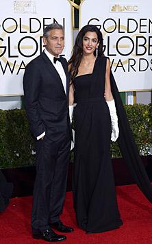Amal und George Clooney bei den Golden Globes (Bild: APA/EPA/PAUL BUCK)