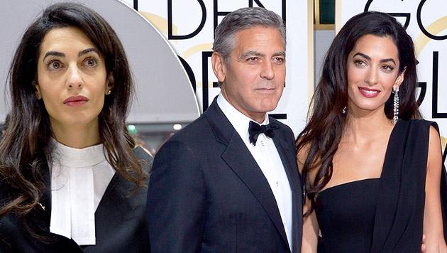Amal Alamuddin: Klüger als Clooney (Bild: APA/ EPA/CANDICE IMBERT, APA/EPA/PAUL BUCK)