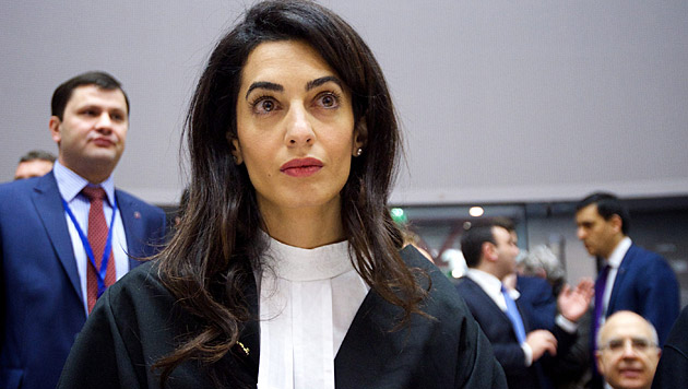 Amal Alamuddin vor Gericht (Bild: APA/EPA/CANDICE IMBERT/COUNCIL OF EUROPE/HO)