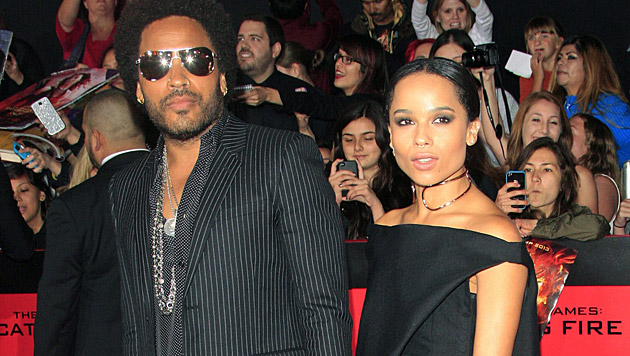 Lenny Kravitz und seine Tochter Zoë (Bild: NINA PROMMER/EPA/picturedesk.com)