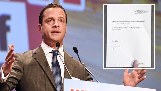 FPÖ-Vize Gudenus wollte zu Rechtsextremen-Kongress (Bild: APA/HERBERT P. OCZERET, APA/CLAUDIA PIETRZAK)