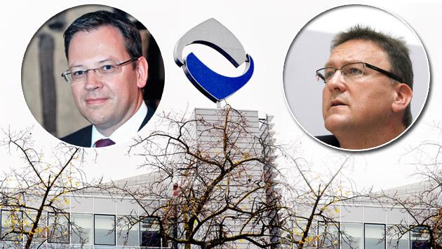 Die FMA-Vorstände Kumpfmüller (li.) und Ettl (Bild: APA/BARBARA GINDL, HARALD SCHNEIDER, HERBERT NEUBAUER)