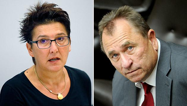 Die SPÖ-Funktionäre Sonja Ablinger und Walter Schopf (Bild: APA/ROLAND SCHLAGER, APA/RUBRA)