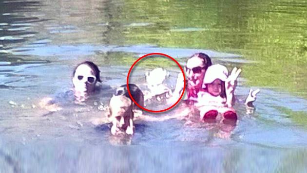 Zeigt dieses Foto den Geist eines toten Mädchens? (Bild: facebook.com/Kim Davison)