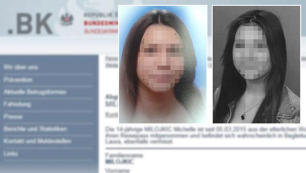 Zwei 14-jährige Cousinen aus Wien verschwunden (Bild: Polizei, Screenshot BKA)