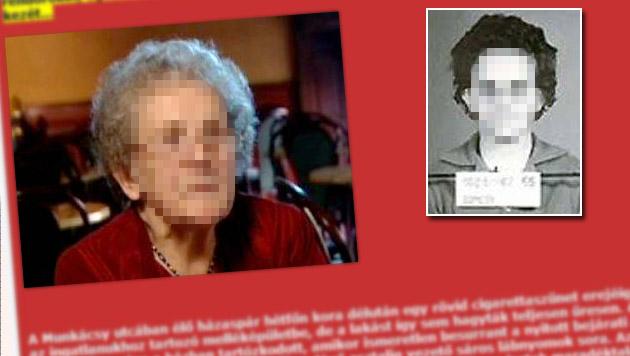 Einbrecherkönigin (89) aus Ungarn bei Coup gefasst (Bild: blog.xfree.hu, Polizei)