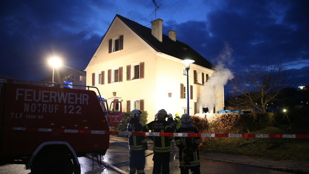 In diesem Haus war die Familie eingeschlossen. (Bild: Matthias Lauber/laumat.at)