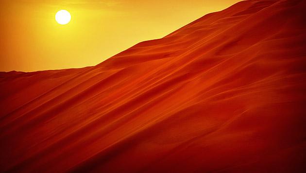 Metropole in der Stille der Wüste: Abu Dhabi (Bild: thinkstockphotos.de)
