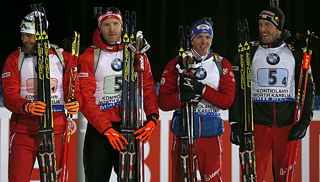 Daniel Mesotitsch, Simon Eder, Sven Grossegger und Dominik Landertinger (Bild: GEPA)