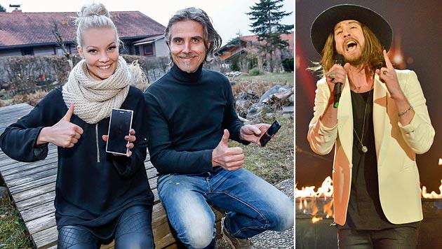 Schwester Elisa und Papa Hannes drückten von zu Hause aus Dominic die Daumen. (Bild: Markus Tschepp, APA/ORF/THOMAS RAMSTORFER)