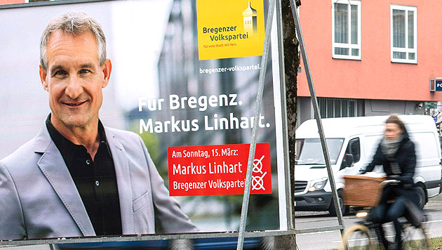 Markus Linhart (ÖVP) bleibt Bregenzer Bürgermeister. (Bild: APA/Dietmar Stiplovsek)