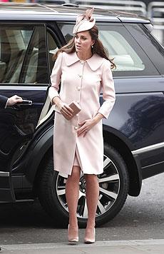 Herzogin Kate beim Besuch der Westminster Abbey am 9. März. (Bild: AP)