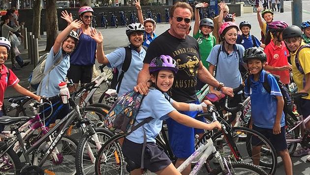 Kurz vor dem Zwischenfall postete Arnie noch dieses Bild auf Instagram. (Bild: instagram.com)