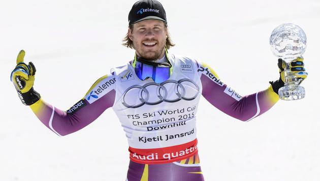 """""""Blöder Norweger"""" Jansrud für Reichelt zu schnell (Bild: APA/EPA/JEAN-CHRISTOPHE BOTT)"""