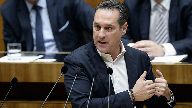 """""""Familienbeihilfe für Ausländer an erfolgreiche Integration koppeln"""" - Heinz-Christian Strache, FPÖ (Bild: APA/ROBERT JAEGER)"""