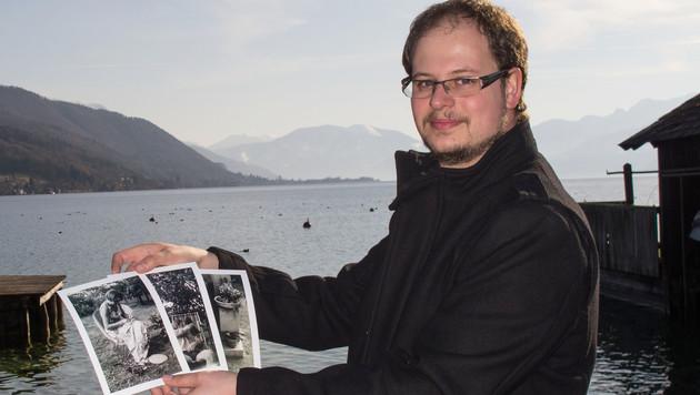 Fotograf Wolfgang Kühn will die Personen auf den Fotos finden. (Bild: KATHARINA GRUBER)