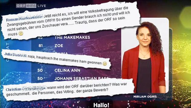 """Voting-Bluff des ORF empört die """"Krone""""-Leser (Bild: tvthek.orf.at, facebook.com)"""