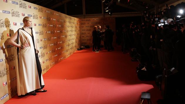 Gwendoline Christie auf dem roten Teppich (Bild: AP)