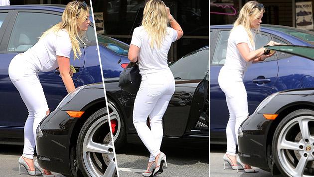 Hilary Duff: Bücken, Kofferraum auf, Kofferaum zu. Wow! (Bild: Viennarport)