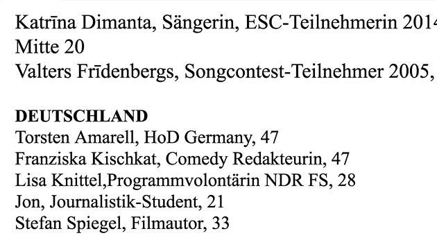 """Der """"Krone"""" liegt die Liste der """"internationalen Jury"""" vor. (Bild: """"Krone"""")"""