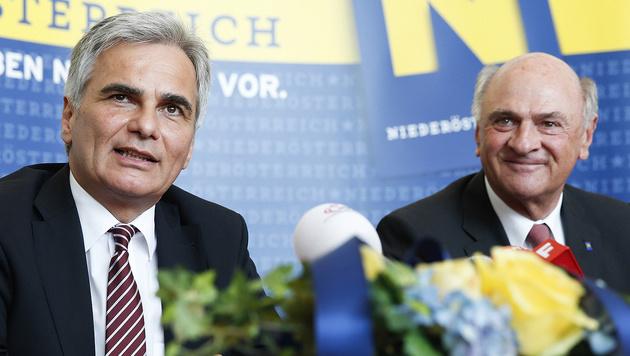 Pröll mit Ex-Kanzler Werner Faymann (Bild: APA/Andy Wenzel/BKA)