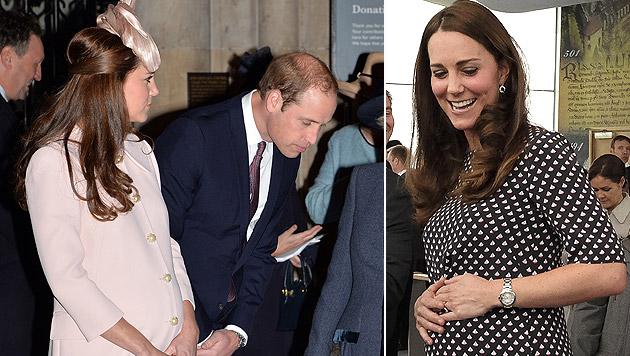 Herzogin Catherine und Prinz William erwarten ihr zweites Kind. (Bild: AP)