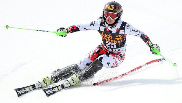 Fenninger im Slalom ohne Punkte - Maze führt nun (Bild: APA/EPA/BARBARA GINDL)