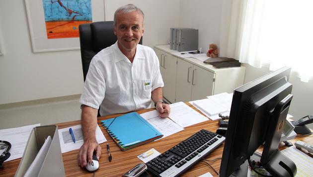 Professor Klaus Schmitt leitet die Kinderklinik Linz (Bild: Christoph Gantner)